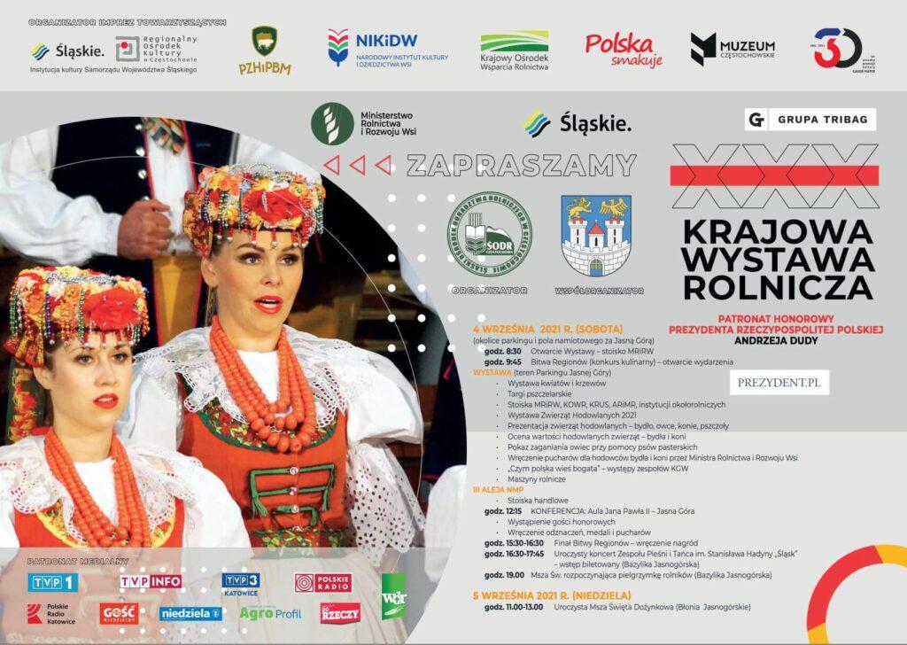 Program Dożynki Jasnogórskie w Częstochowie